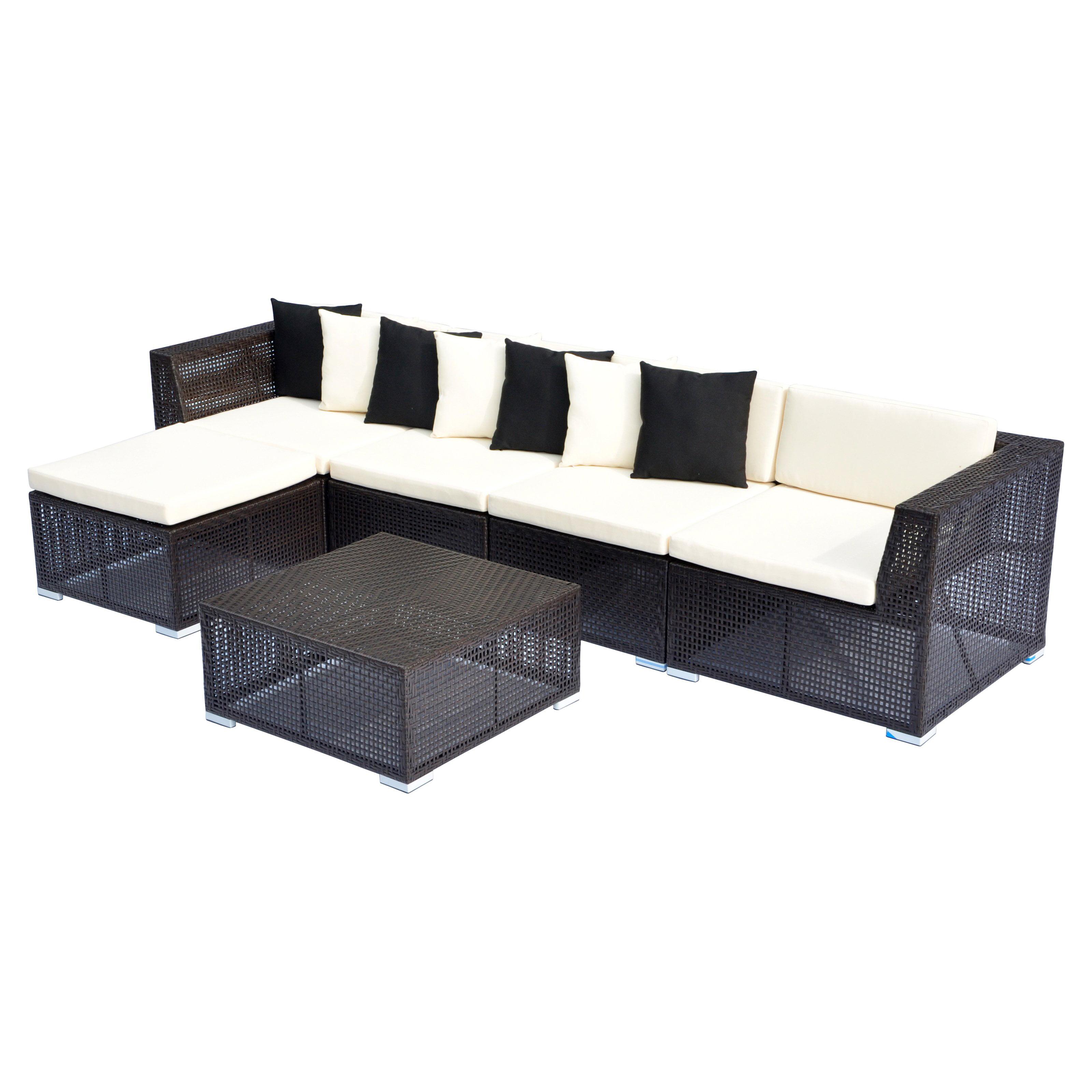 Opulence Collection 6 Piece Modular Sectional Sofa Set   Walmart.com