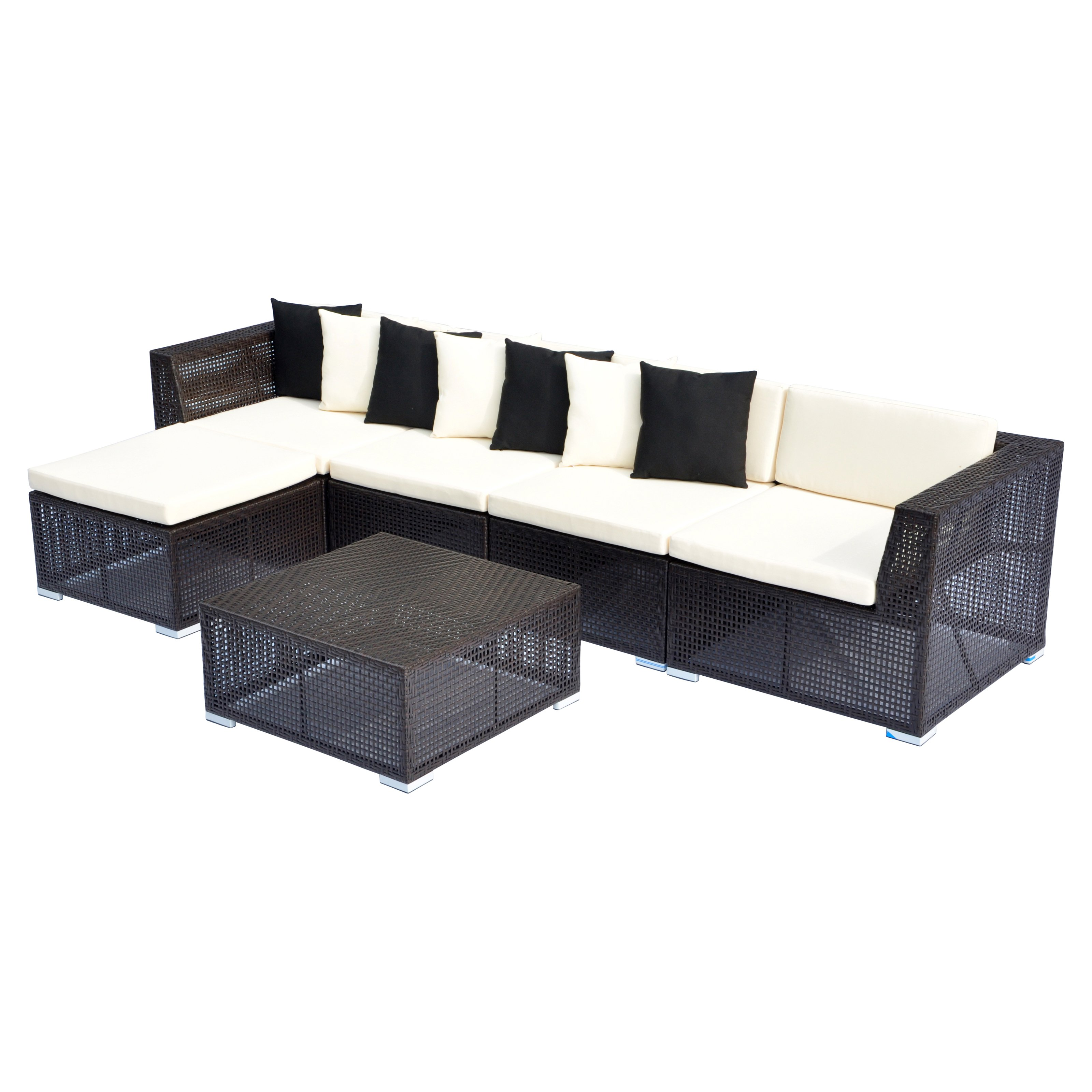 Opulence Collection 6 Piece Modular Sectional Sofa Set Walmart Com