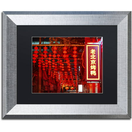 Trademark Fine Art  Redlight  Canvas Art By Philippe Hugonnard  Black Matte  Silver Frame