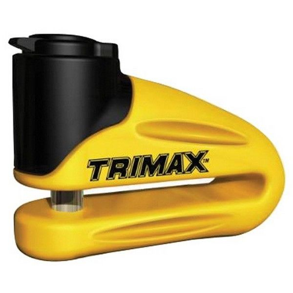 Trimax 348003 Motorcycle Disc Lock Yellow