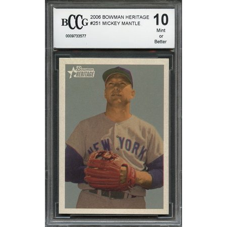 2006 bowman heritage #251 MICKEY MANTLE new york yankees BGS BCCG 10