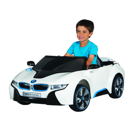 6 Volt Battery BMW i8 Concept Ride On Toy - Lightning Mcqueen Ride In Car