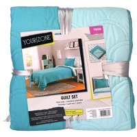 Your Zone Turquoise Solid Quilt Set