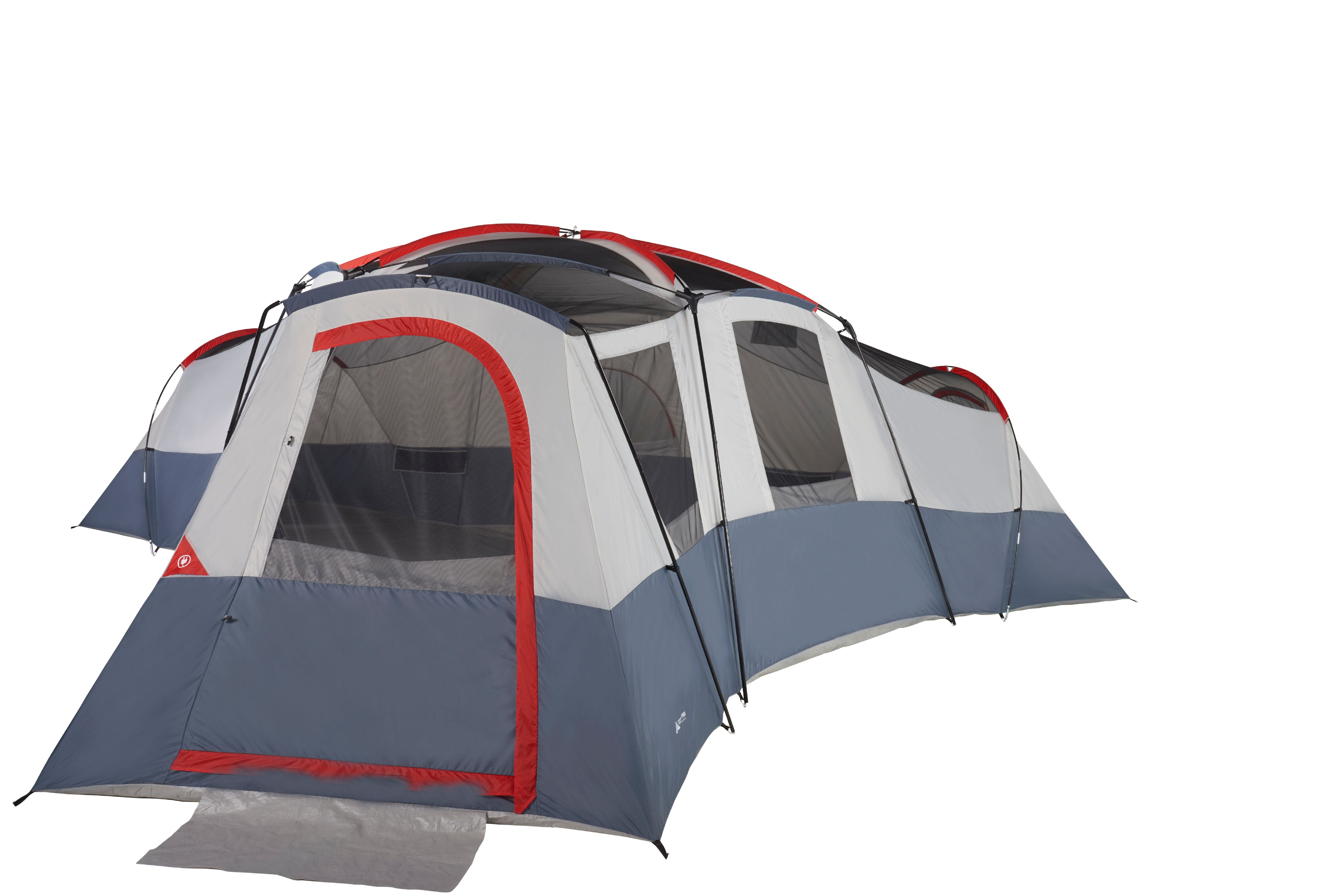 Ozark Trail 20 Person 4 Room Cabin Tent With 4 Separate Entrances