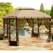 Garden Winds Replacement Canopy Top and Side Mosquito Netting Set for Trellis Gazebo, RipLock 350