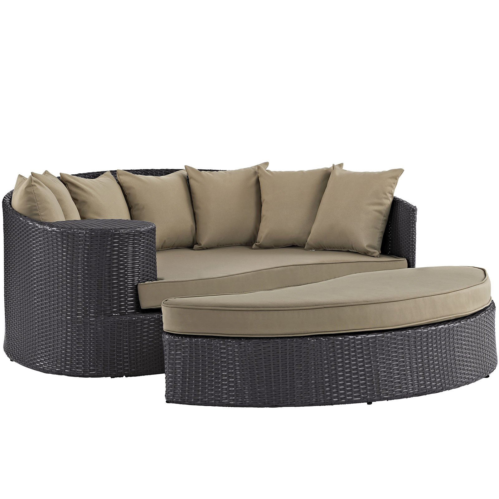 modway convene outdoor patio daybed multiple colors