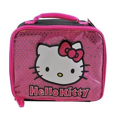 Hello Kitty Pink Glitter Lunch Bag