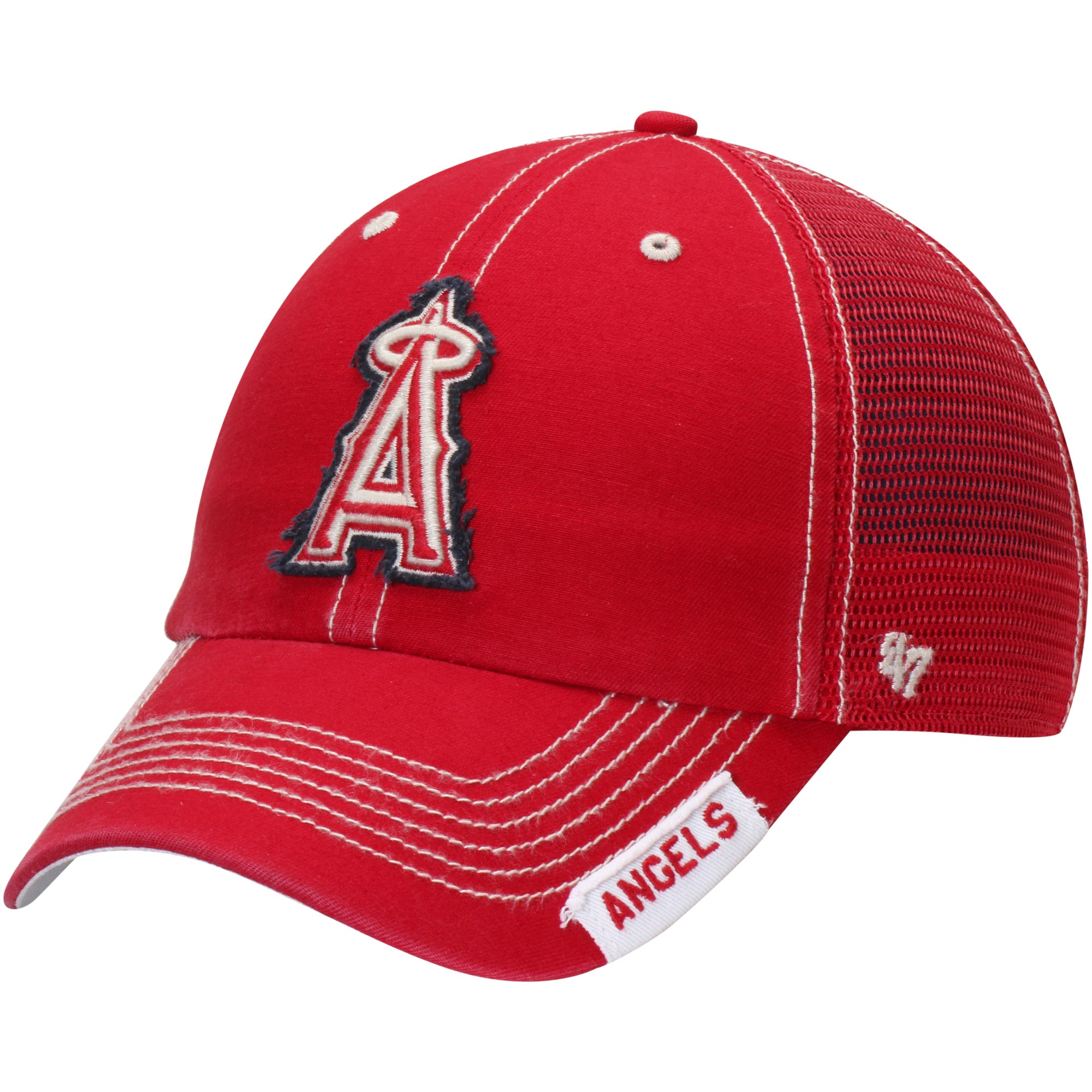 Los Angeles Angels '47 Turner Clean-Up Adjustable Hat - Red - OSFA