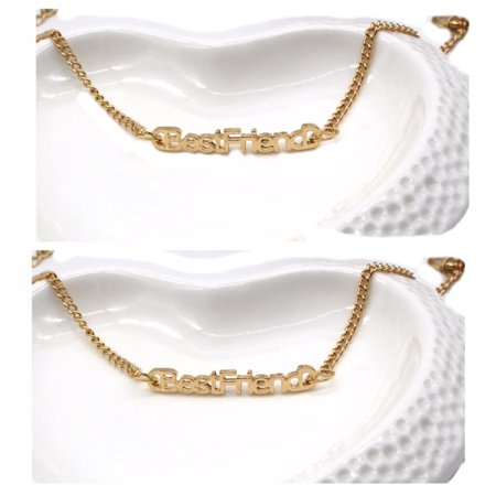 Two-Piece Best Friends Anti-Tarnish Gold Plated Matching Bracelets