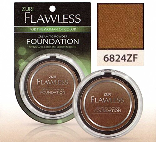 Zuri Flawless Cream to Powder Foundation - Chesnut (Pack of 6)