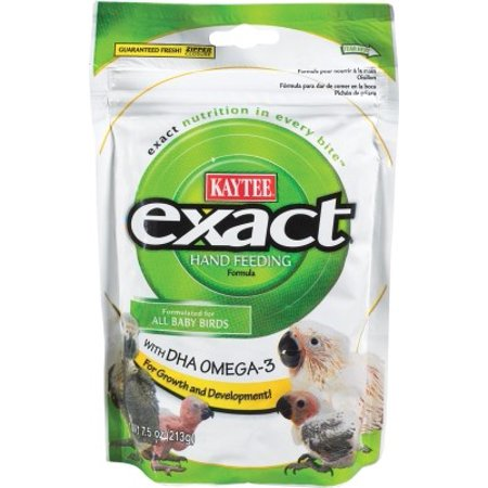 Kaytee Exact Hand Feeding Formula Baby Bird Food, 7.5-oz