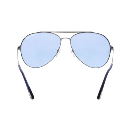 1300206908 Tom Ford Indiana FT0497-14V-60 Silver Aviator Sunglasses - image 1 of 3 ...