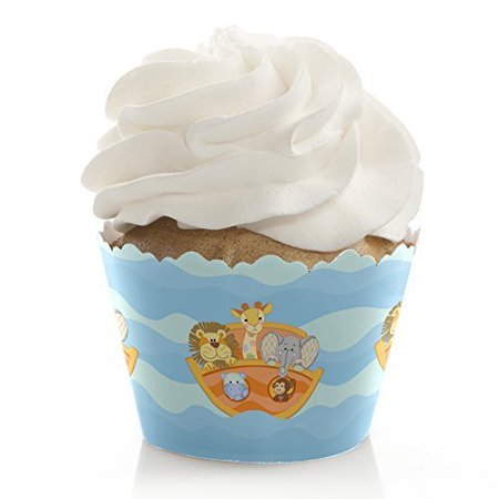 Noah's Ark - Baby Shower or Birthday Party Cupcake Wrappers - Set of (Noah's Ark Baby Shower Theme)