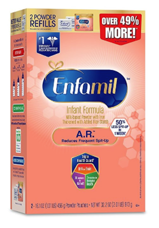 Enfamil A.R. Infant Formula (4 Pack) Clinically Proven to Reduce Spit-Up in 1 week Powder Refill Box, 32.2 oz by Enfamil A.R.