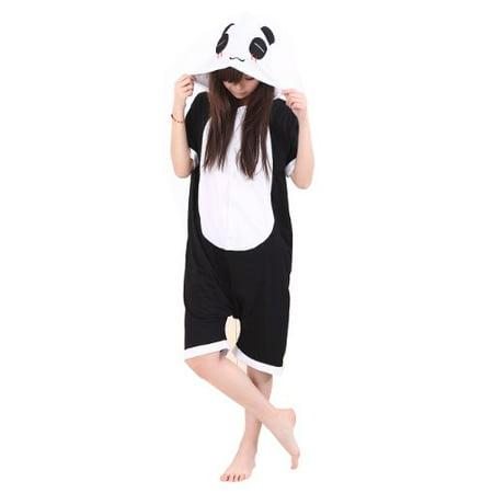 Imixcity Summer Unisex Japanese Animal Cosplay Costume Anime Onesie Romper panda(XL) (Animal Onesie Next Day Delivery)