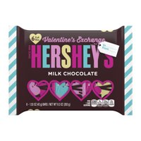Hershey's, Milk Chocolate Valentine's Exchange Candy Bars, 6 Pack, 9.3 Oz.