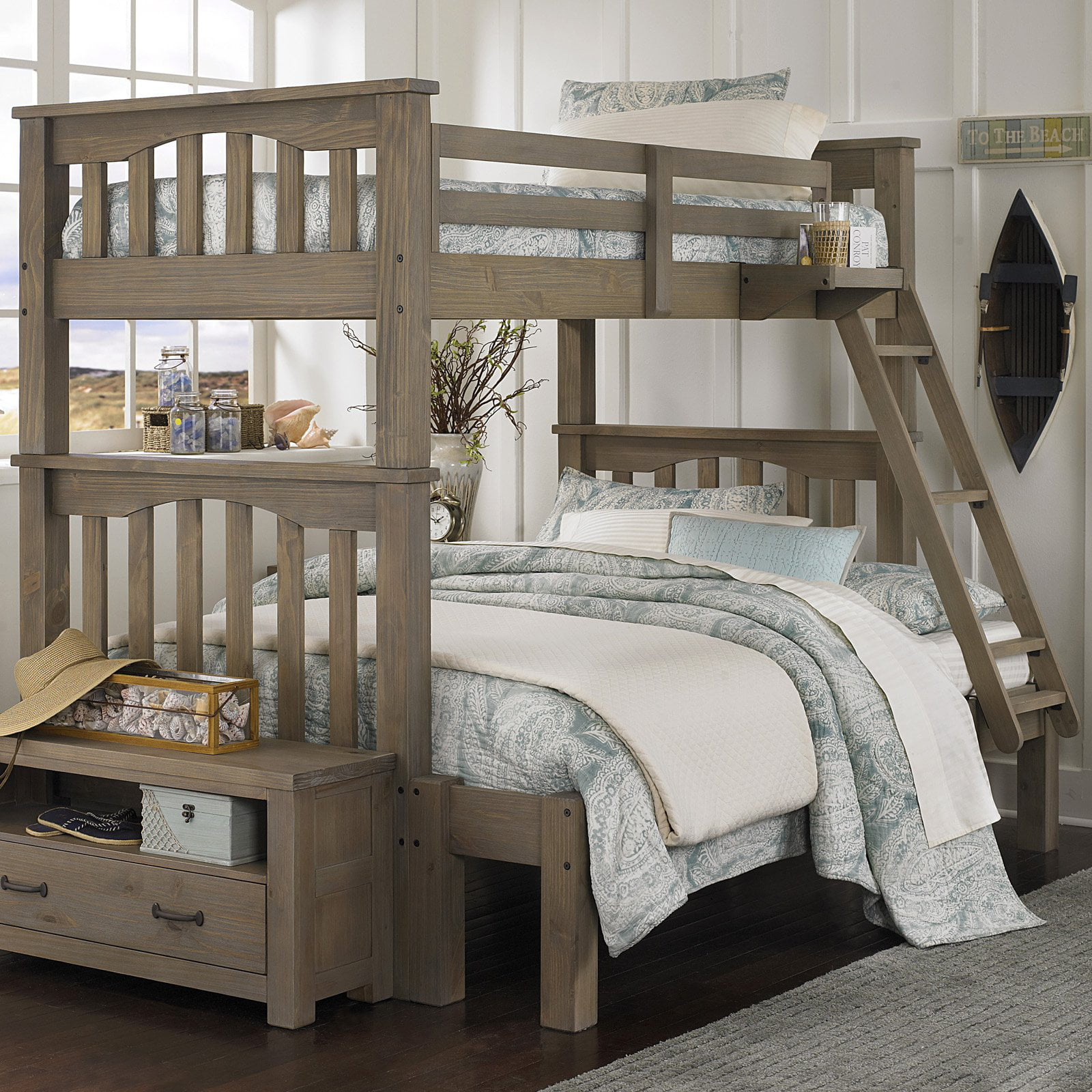 Ne Kids Highlands Harper Twin Over Full Bunk Bed Walmart Com