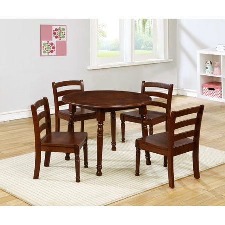 ehemco kids 5 piece round table and chair set. Black Bedroom Furniture Sets. Home Design Ideas