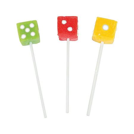 Fun Express - Dice Suckers - Edibles - Sucker & Pop - Suckers & Lollipops - 12 Pieces](Dice Lollipops)