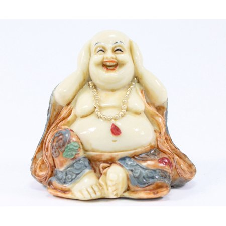 Feng Shui Hear No Evil Happy Face Laughing Buddha Figurine Home Decor Statue new