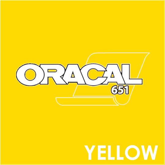 ORACAL 651 Vinyl Roll of Glossy Yellow - Includes Free Multi-Purpose Squeegee - Choose Your Size