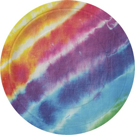 """9"""" Tie Dye Party Plates, 8ct"""