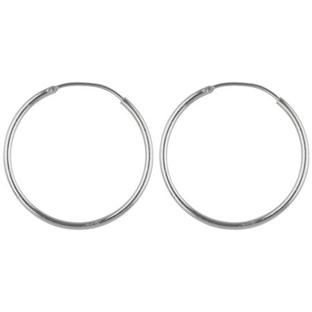 Sterling Silver High Polish Endless Hoop Earrings