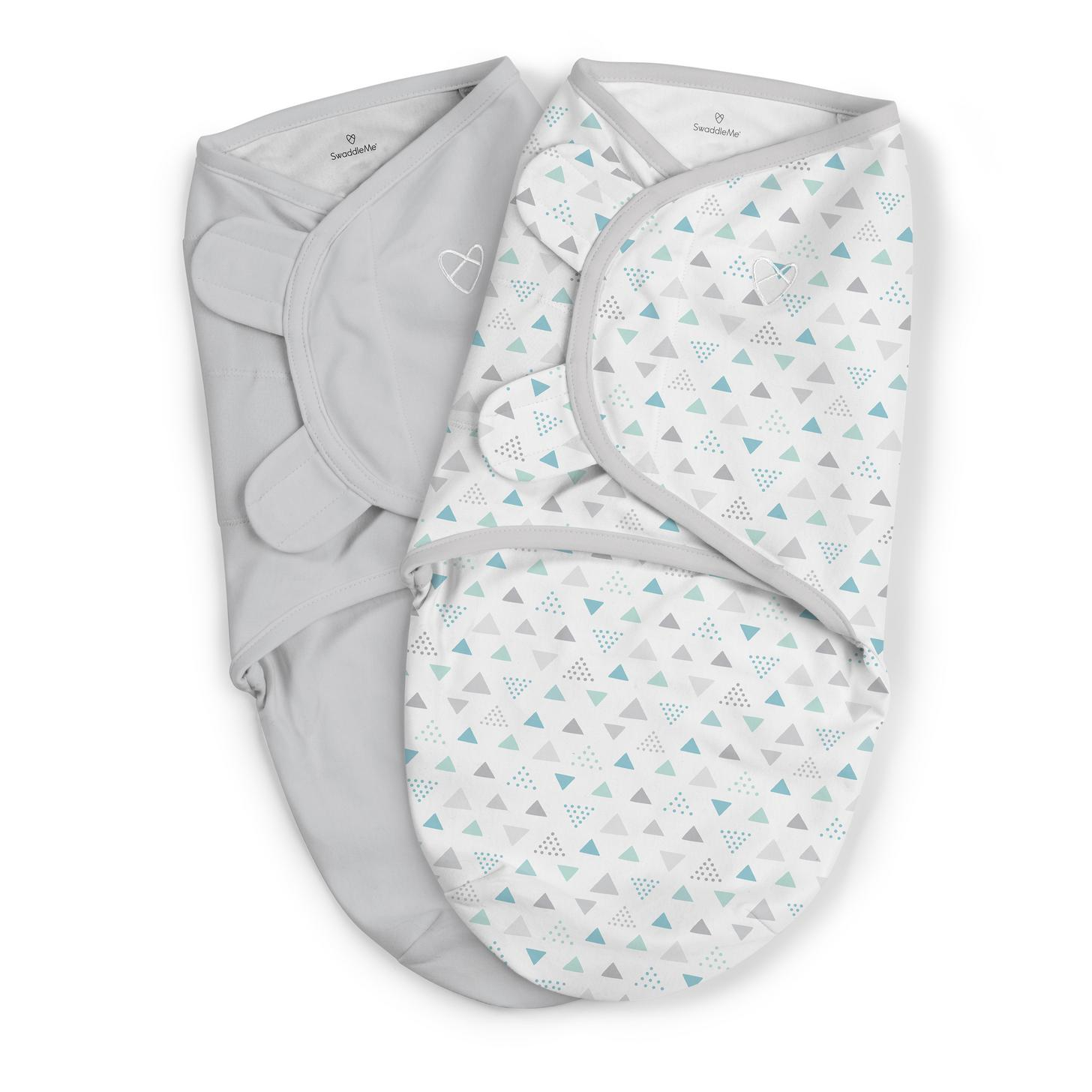 Summer Infant SwaddleMe 2 pk Cotton SM - Triangle Frenzy
