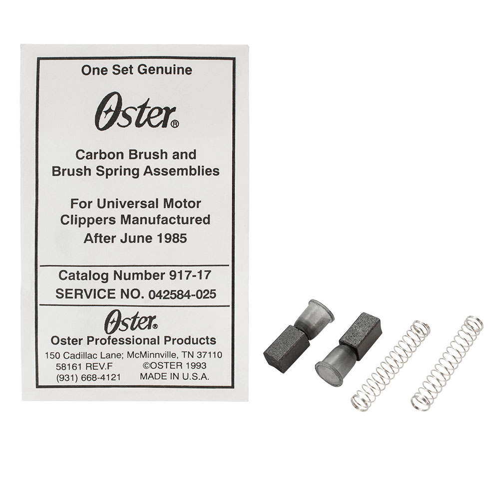 Oster Brush and Spring Assembly Set Genuine Replacement Part for Universal Motor Hair Clippers, 042584-025