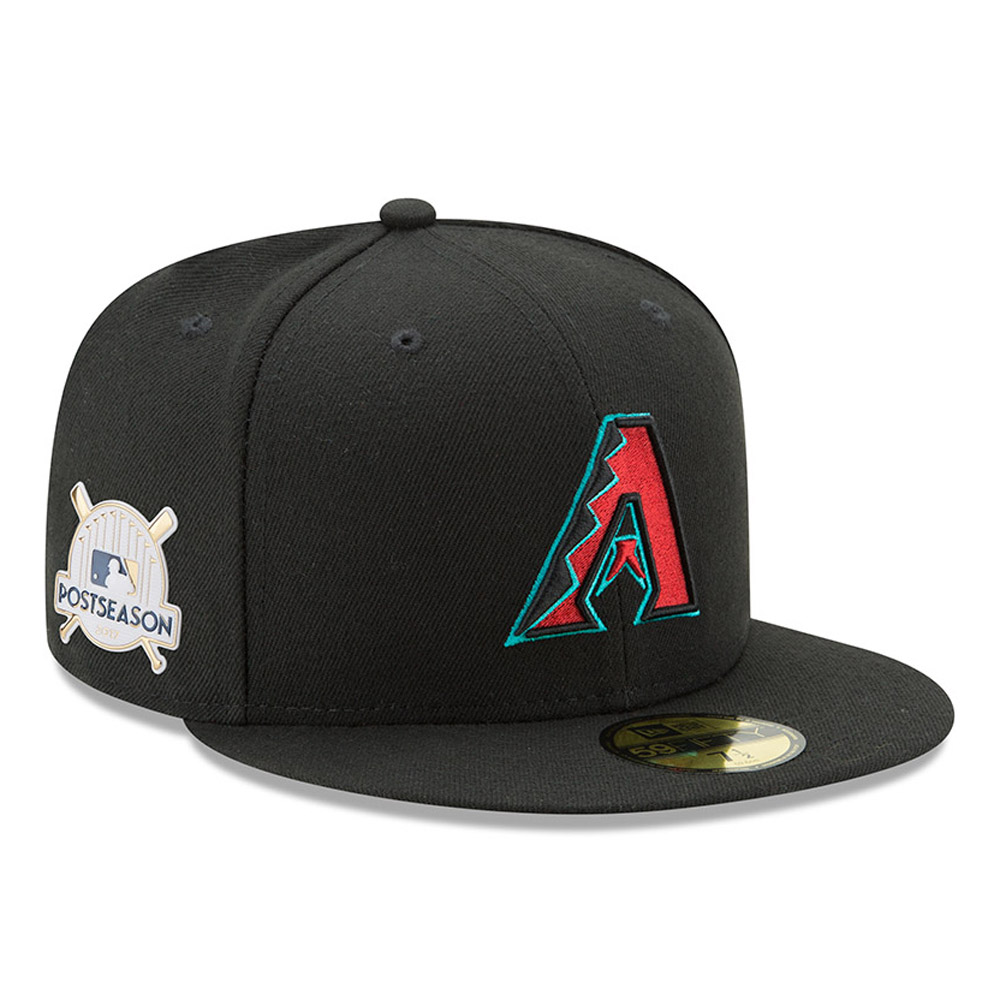 Arizona Diamondbacks New Era 2017 Postseason Alternate Side Patch 59FIFTY Fitted Hat - Black