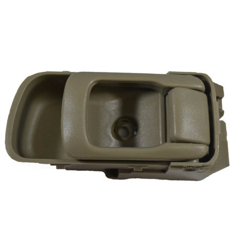 PT Auto Warehouse NI-2544E3-RH - Inner Interior Inside Door Handle, Beige/Tan (Olive) - Passenger Side