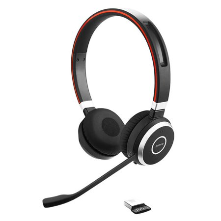 Jabra Evolve 65 Stereo Microsoft Optimized Stereo Wireless Headset w/ Integrated Busy Light