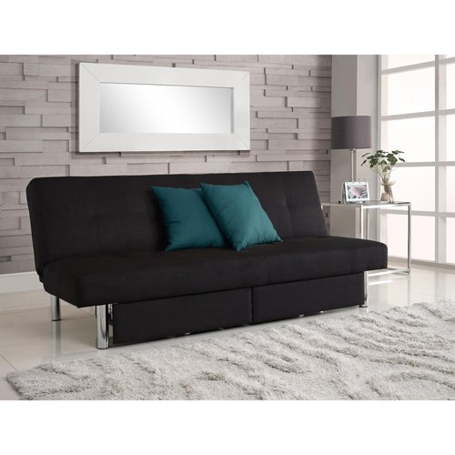 DHP Sola Storage Futon with Microfiber Upholstery, Black by Dorel Home Products