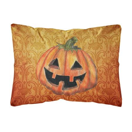 October Pumpkin Halloween Canvas Fabric Decorative Pillow - Octobre Halloween