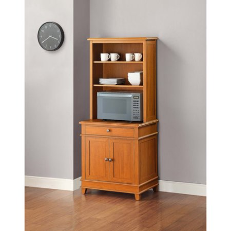 mainstays multi-purpose kitchen stand / workstation, honey finish