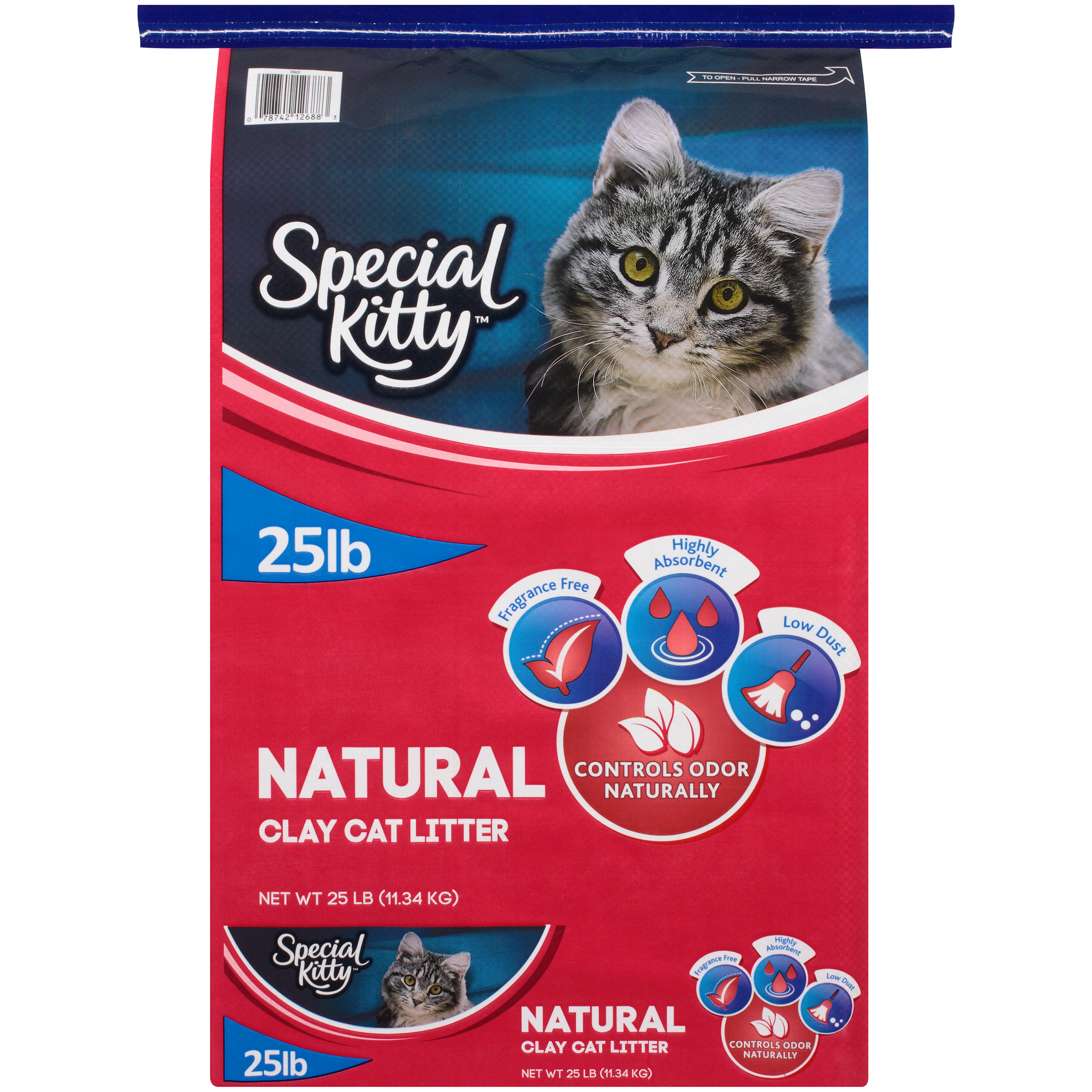 Special Kitty Natural Clay Cat Litter, Unscented, 25 lb