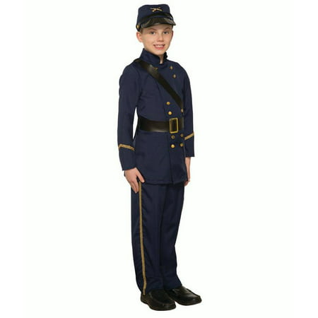 Child Boys Civil War Blue Union Army Soldier Historical Halloween  - Kids Armor Costume