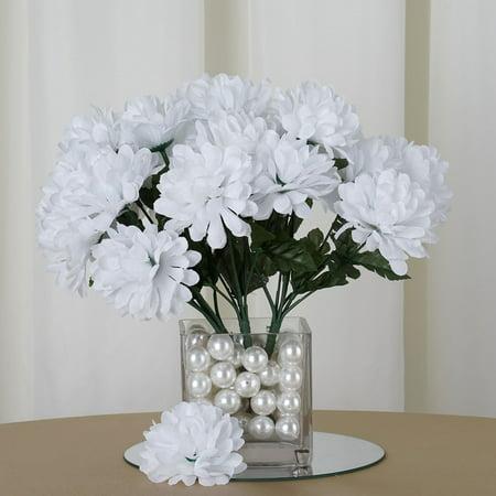 Efavormart 84 Artificial Chrysanthemum Mums Balls for DIY Wedding Bouquets Centerpieces Arrangement Party Home Decoration Wholesale (Wedding Centerpiece Arrangements)