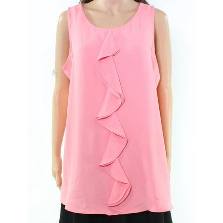 Cascade Sleeveless - Alfani NEW Pink Rose Women's Size 12 Cascade Ruffle Scoop Neck Blouse