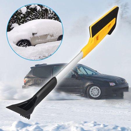 Telescoping Ice Scraper for Cars - TSV Extendable Auto Windshield Window Ice Scraper Snow Cleaner Brush Compatible with Car, Truck, SUV, etc Telescoping Ice Scraper