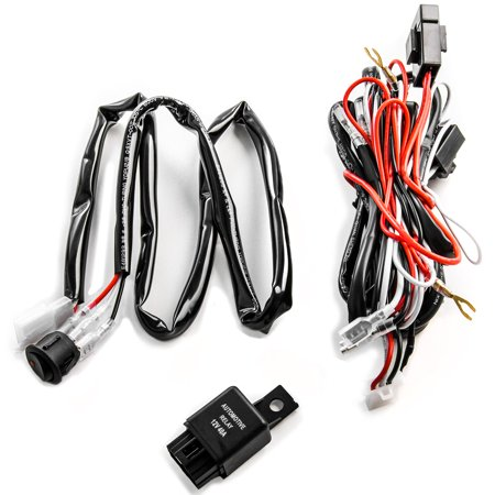 Wiring Harness Kit for LED Lights 200W 12V 40A Fuse Relay On/Off Switch on