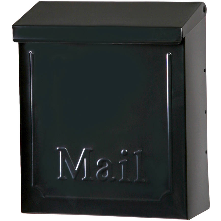 "Solar Group THVKB001 10.75"" Black Townhouse Wall Mount Mailbox"