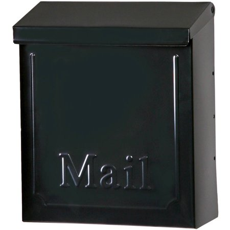 Solar Group Thvkb001 10 75  Black Townhouse Wall Mount Mailbox