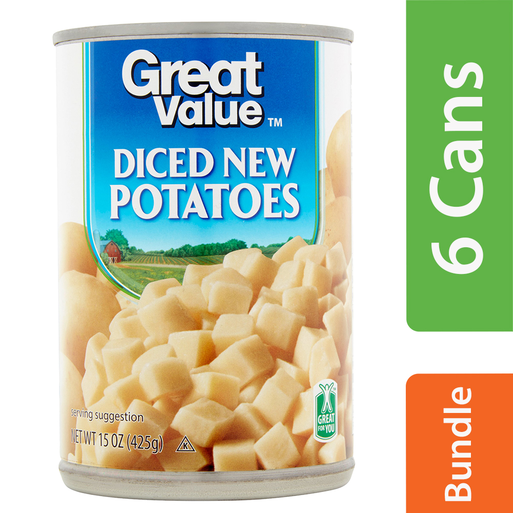 Great Value Diced New Potatoes, 15 Oz (6 Packs)