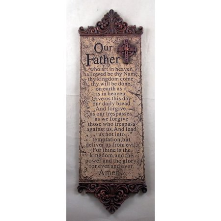 Resin -LORD'S PRAYER- Wall Plaque