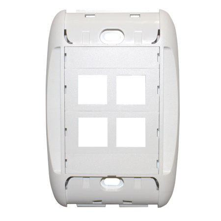 Belden Ax102622 Mediaflex Faceplate Kit, 4 Port, Label, - Port Label