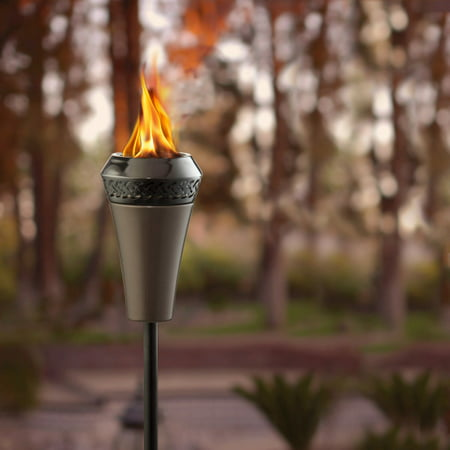 TIKI® Brand Island King® Large Flame Torch - Gun Metal - Tiki Lamps
