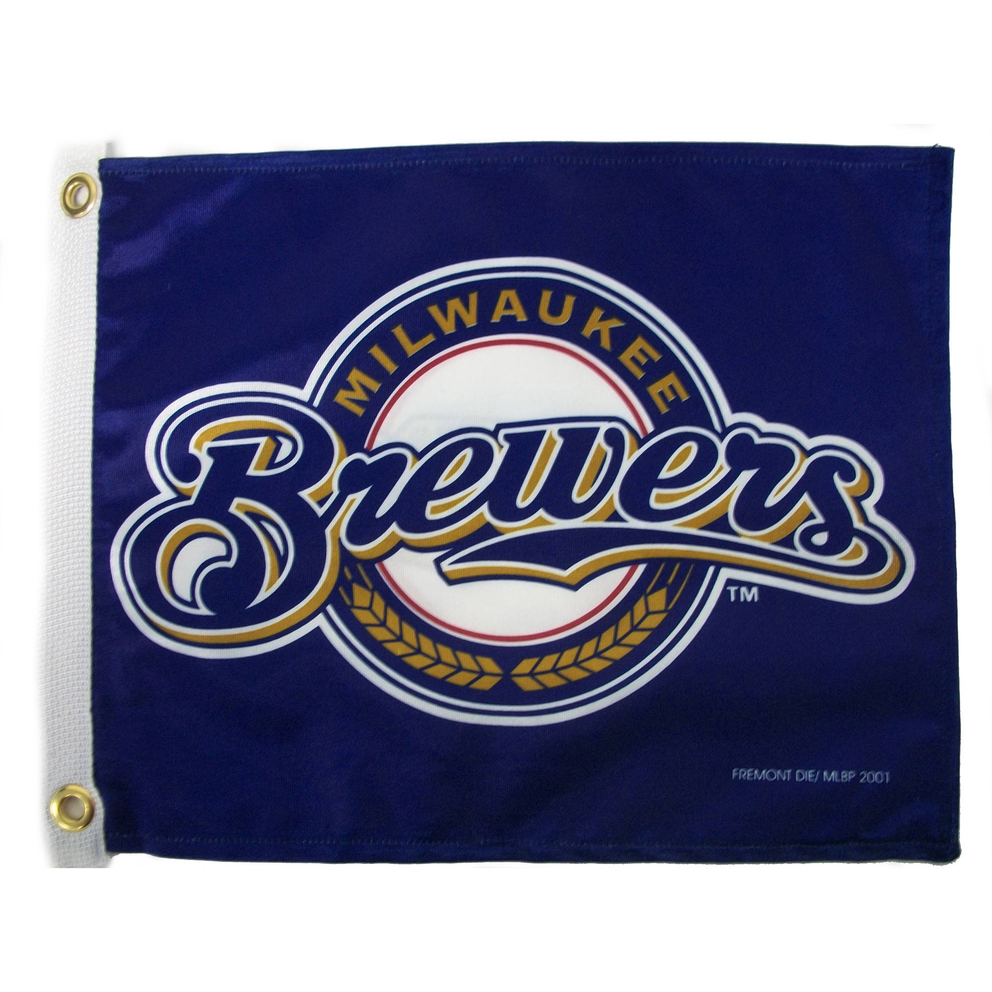 "Flagpole To Go 14"" x 15"" Brewers Golf Cart Flag"