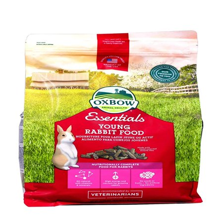 Bunny Basics - Young Rabbit Food - Alfalfa Hay - 5 lbs, Complete Feed For Juvenile Rabbits By Oxbow (Bunny Food)
