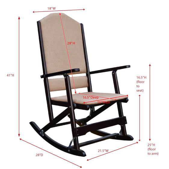 Kids Classic Solid Wood  Rocking Chair